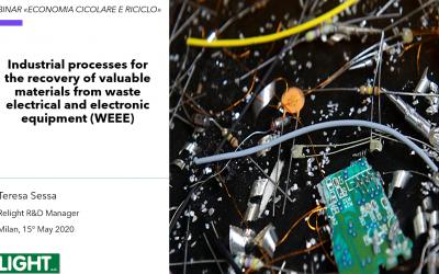 """AWARE Project at webinar  """"ECONOMIA CIRCOLARE E RIFIUTO"""""""