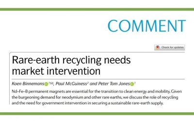 Rare-earth recycling needs market intervention (Nature Reviews Materials)